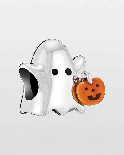 Ghost with Pumpkin Charm
