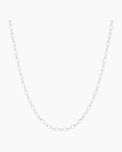 Long Sterling Silver Chain Necklace