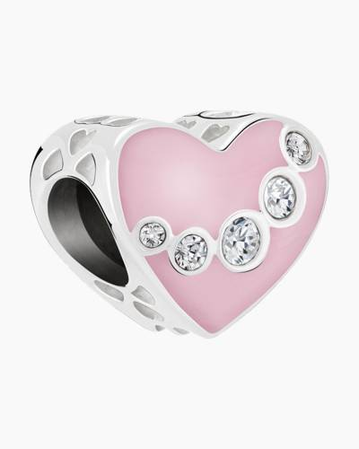 Jeweled Swag Heart Charm