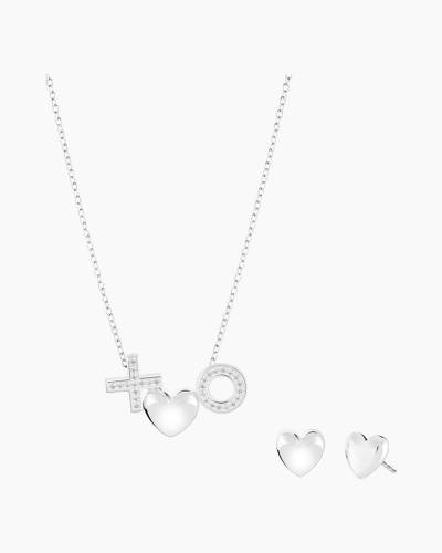 Limited Edition Amour Du Jour XO Heart Necklace And Earrings Set