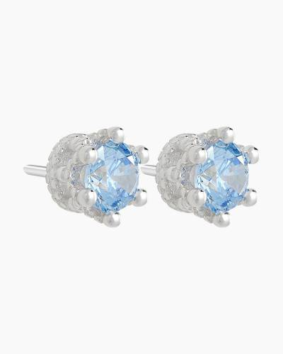 Blue Tiara Stud Earrings