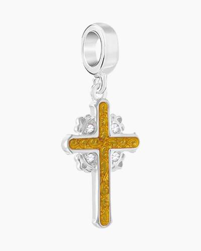 Enamel Cross Charm