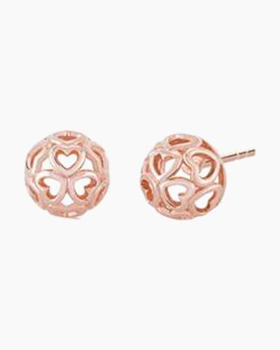 Blush Delicate Heart Stud Earrings