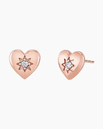 Blush Cupid's Heart Stud Earrings