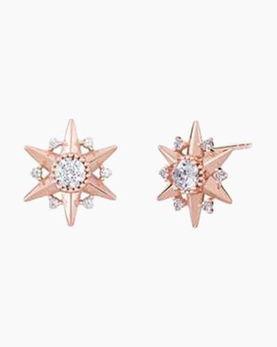Blush Starburst Stud Earrings