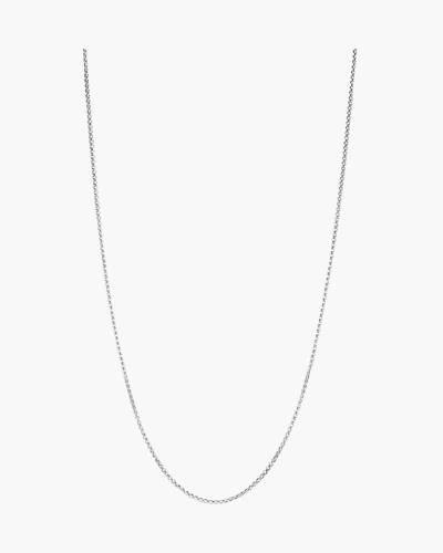 Petite Box Chain Necklace in Bright Silver