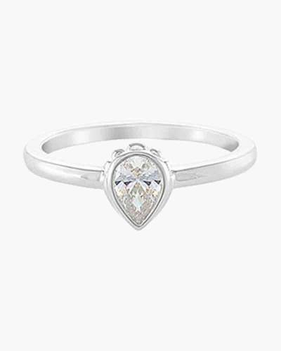 Solitaire Ring with Stone in Silver
