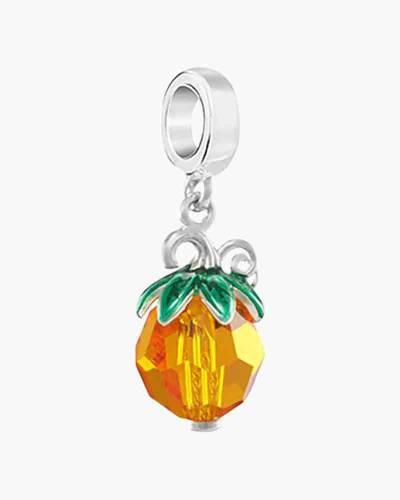 Swarovski Crystal Pumpkin Hanging Charm