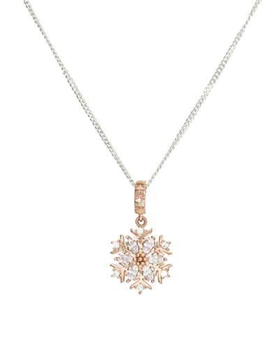 Snowflake Pendant Necklace in Chamilia Blush