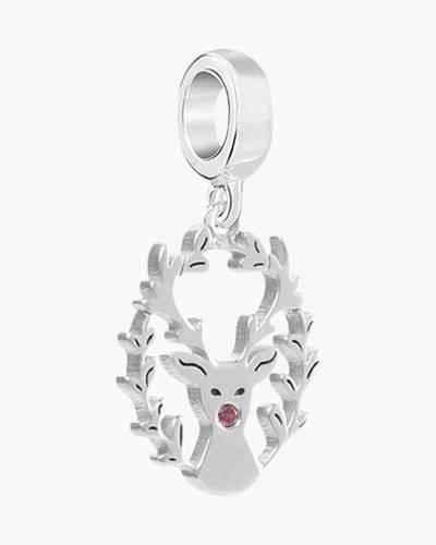 Laser Cut Reindeer Charm
