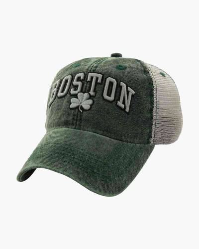Boston Shamrock Cobblestone Mesh Trucker Hat