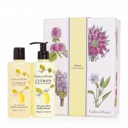 Crabtree & Evelyn Citron Bath Shower Gel and Body Lotion Duo Gift Set
