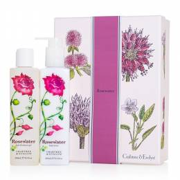 Crabtree & Evelyn Rosewater Duo Bath Shower Gel and Body Lotion Gift Set