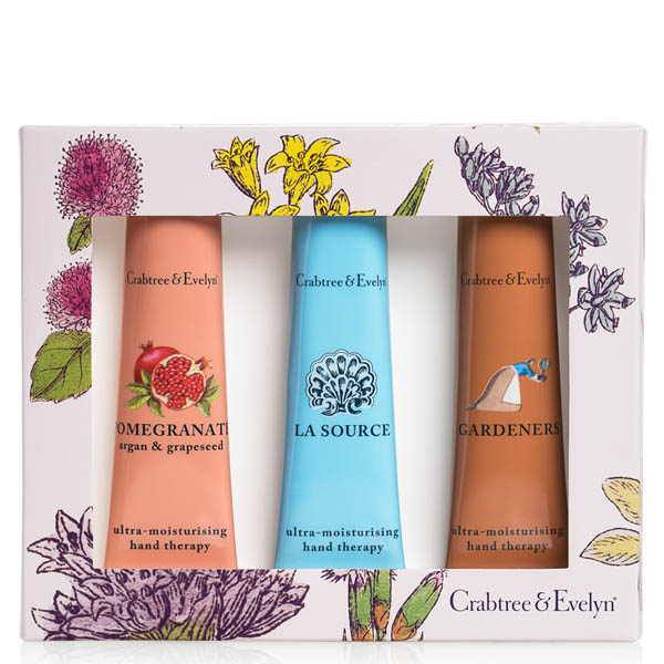 Crabtree & Evelyn Pomegranate, La Source and Gardeners Hand Therapy Sampler Set