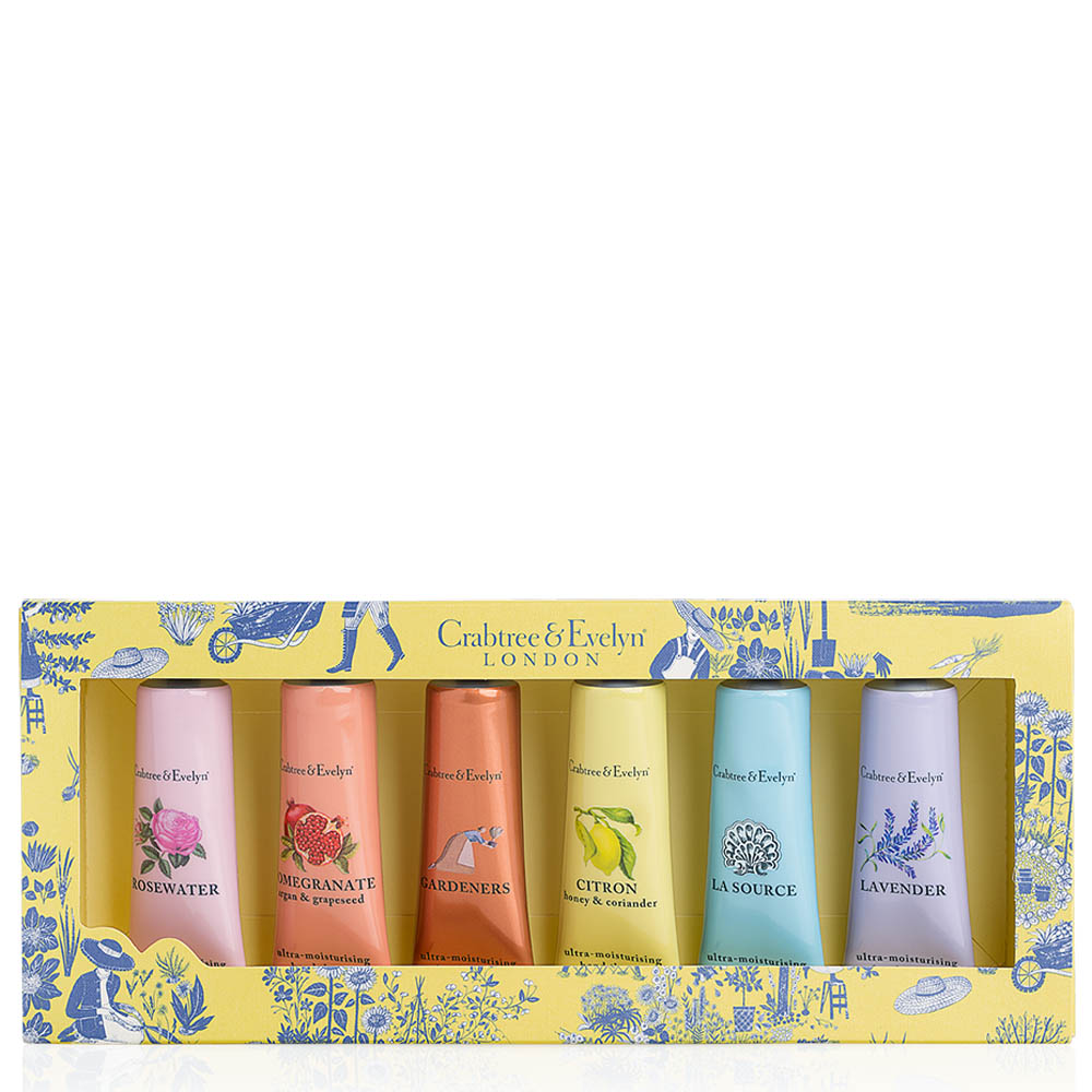 Crabtree and Evelyn Favourites Hand Therapy Sampler Set (6-pack)