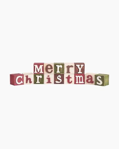 Merry Christmas Blocks Sign