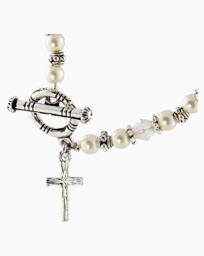 Aurora Rosary Toggle Bracelet
