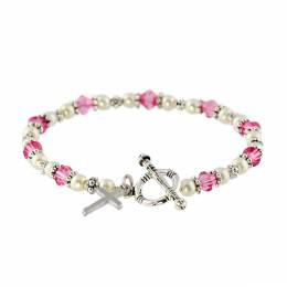 Creed Rose Rosary Toggle Bracelet