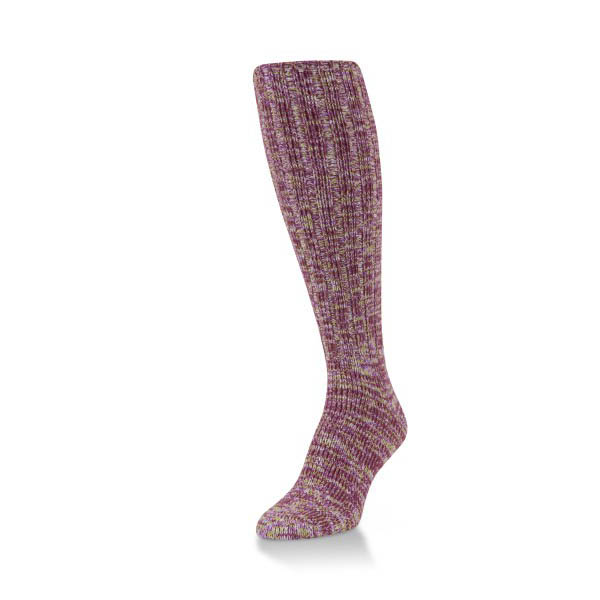 World's Softest Passion Spacedye Ragg Knee High Sock