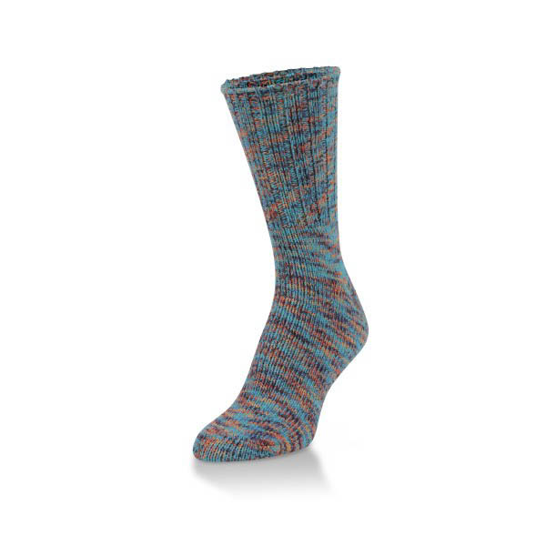 World's Softest Carnival Spacedye Ribbed Leg and Foot Ragg Crew Socks