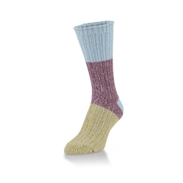 World's Softest Felicity Block Ribbed Leg and Foot Ragg Crew Socks