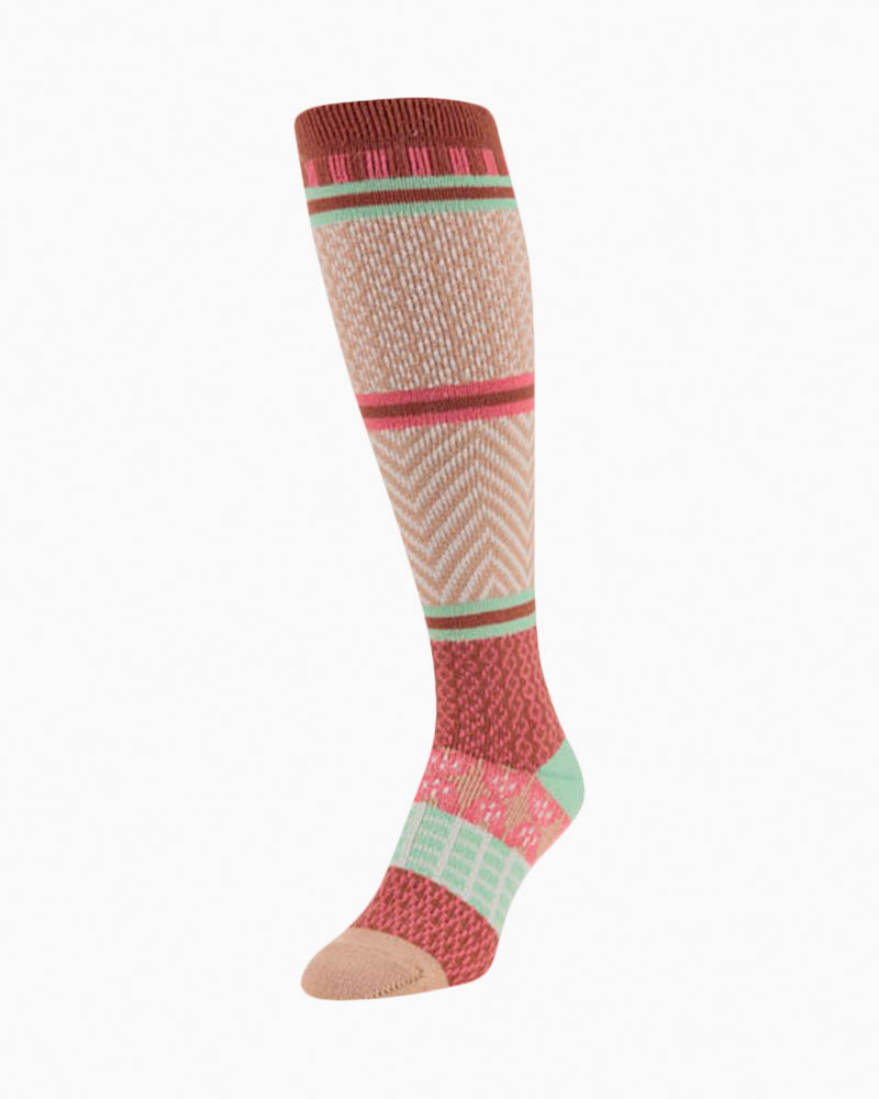 World's Softest Gallery Knee High Sock in Gingerbread