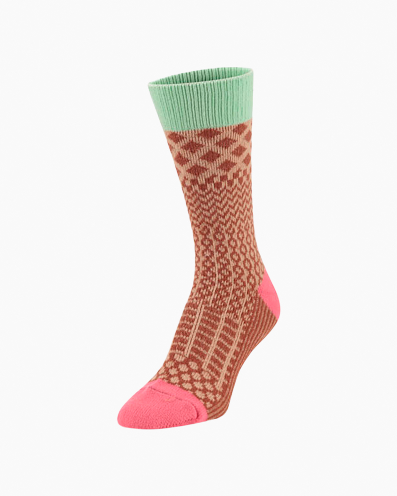 World's Softest Gallery Crew Sock in Gingerbread