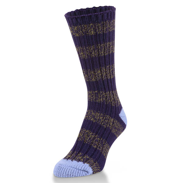 World's Softest Ragg Crew Socks in Peacock Stripe