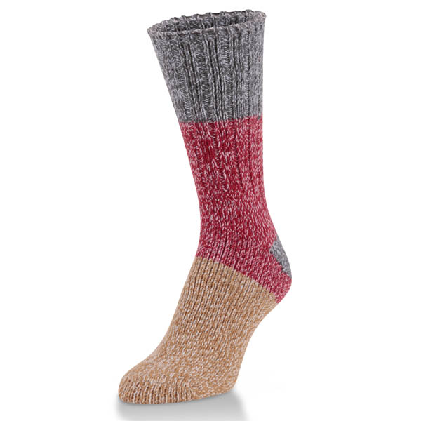 World's Softest Ragg Crew Socks in Winter Block