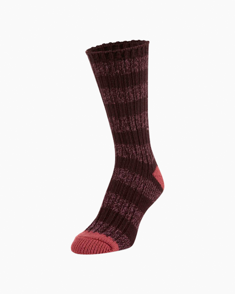 World's Softest Ragg Crew Socks in Sassafras Stripe