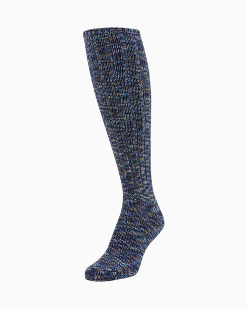 World's Softest Ragg Knee High Socks in Peacock Spacedye
