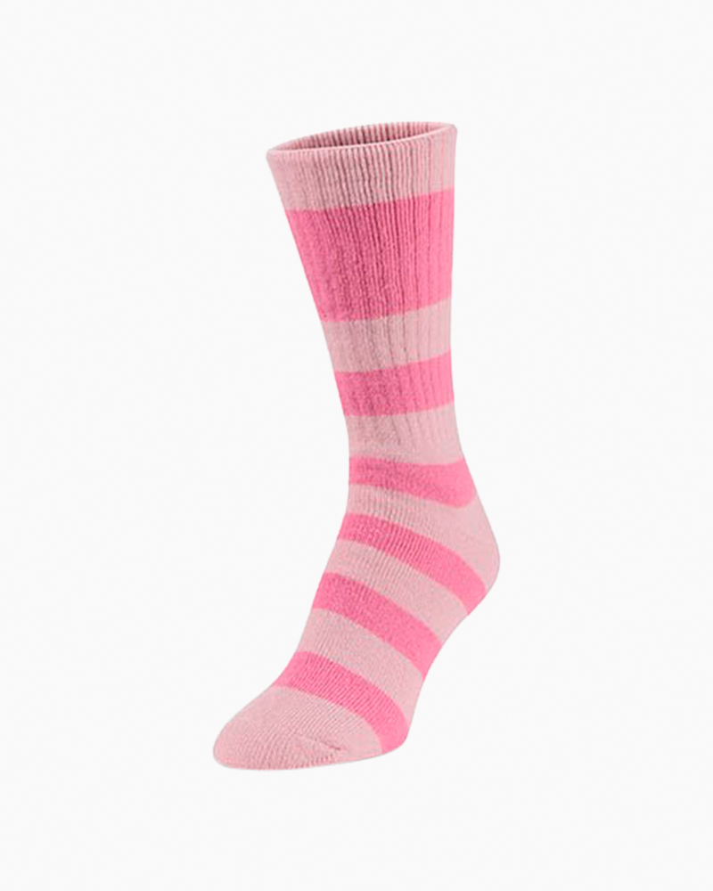 World's Softest Novelty Crew Socks in Pink Multi
