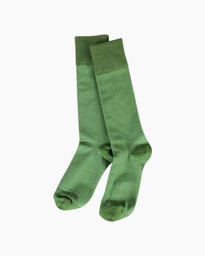 Crosstie Crew Socks in Pesto Diamond