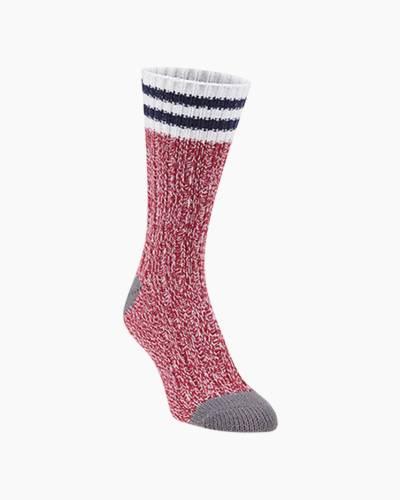 Ragg Crew Socks in Pepper Rugby Stripes