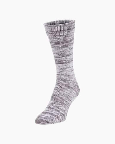 Slub Crew Socks in Charcoal