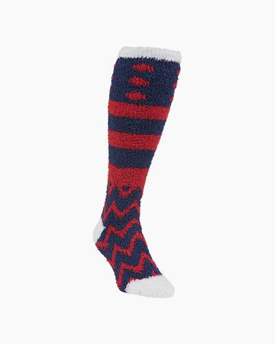 Rugby Knee High Socks in Blue and Red