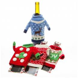 DM Merchandising Knitted Ugly Sweater Bottle Cover (Assorted)