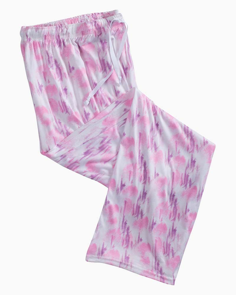 Hello Mello Muted Pink Tie Dye Pj Lounge Pants The Paper