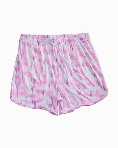 Muted Pink Tie Dye PJ Shorts