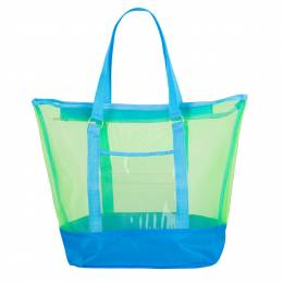 DM Merchandising Sunshine Mesh Tote in Blue