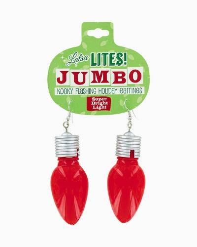 Lotsa Lites Jumbo Flashing Earrings