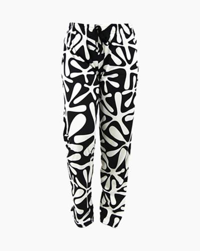 Ornate Black and White Pattern PJ Lounge Pants