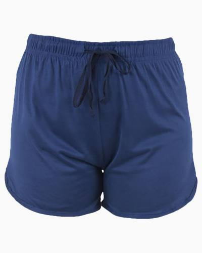 Solid Blue PJ Lounge Shorts