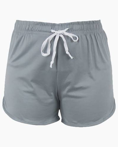 Solid Grey PJ Lounge Shorts