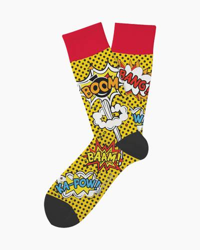 Comicon Comic Book Words Unisex Everyday Socks