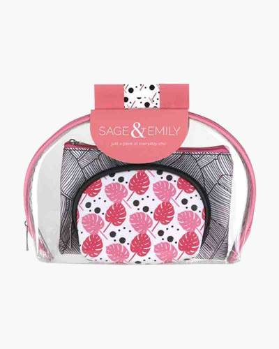 First Glance 3-Piece Cosmetics Case Set in Pink