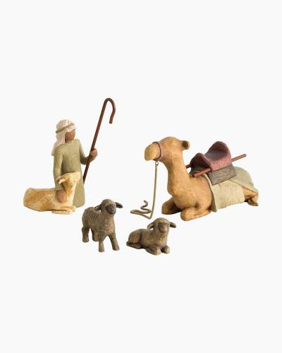 Shepherd and Stable Animals Nativity Figures