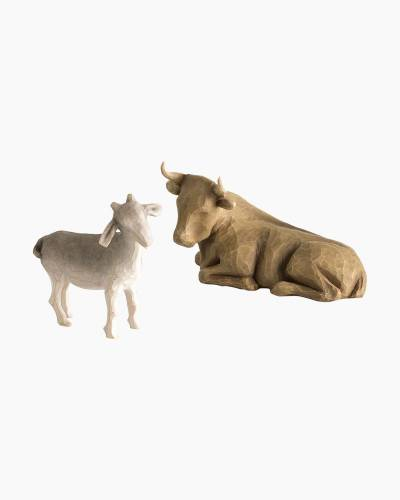 Ox and Goat Nativity Figures