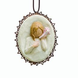 Willow Tree Thinking of You Metal-Edged Ornament