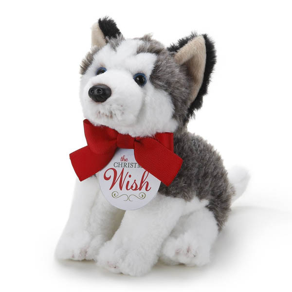 Demdaco The Christmas Wish Small Husky Plush